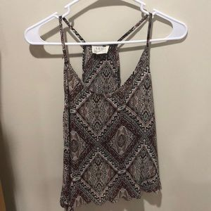 Printed L.A. Hearts tank top- gently used